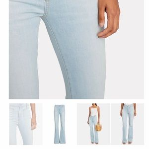 Veronica Beard Florence Flared High Rise Jeans